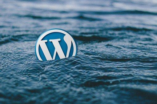 Wordpress-Logo in mezzo al mare