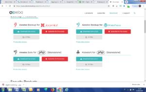Schermata del sito Akeeba