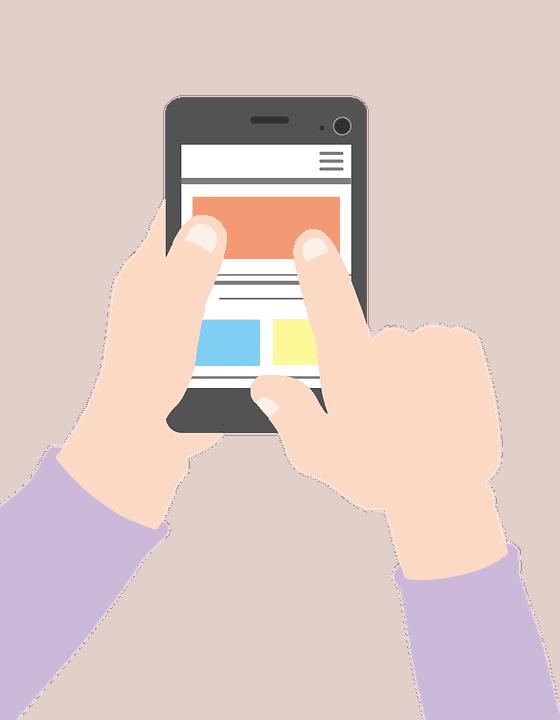 Rappresentazione App - Persona che digita su smartphone
